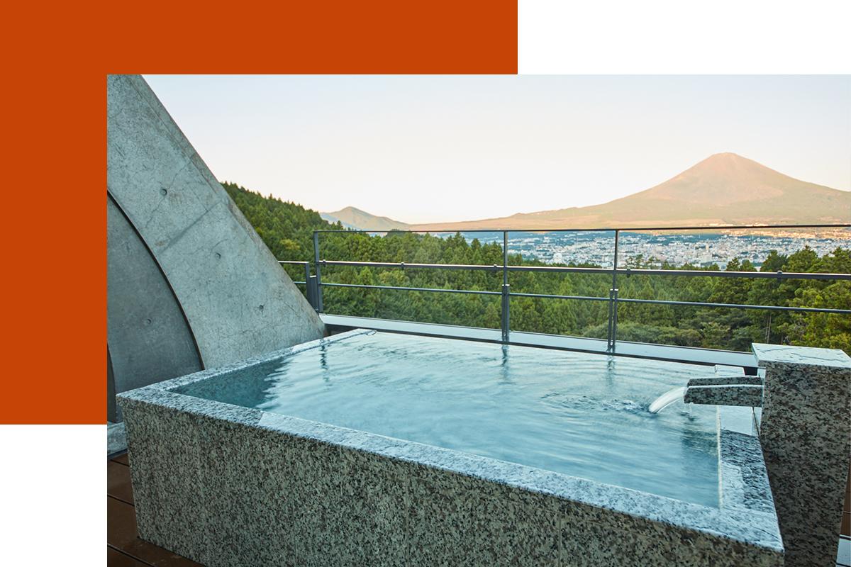 富士山麓を望む安らぎの天然温泉